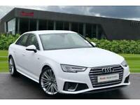 2019 Audi A4 S line 35 TFSI 150 PS S tronic Semi Auto Saloon Petrol Automatic