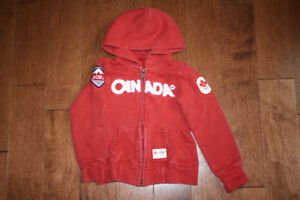 Canada Olympic Full Zip Hooded Sweater - 4T