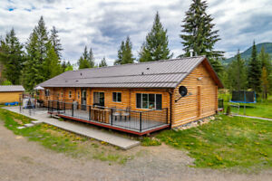Log Home on 10 Flat Acres