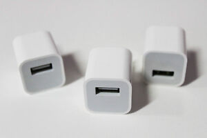 Gently Used Apple Ipod/Iphone/Ipad Wall Charger, Cable, Adapter