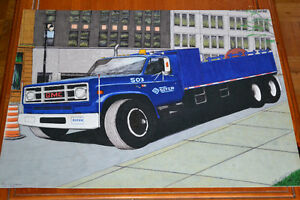 GRAND DESSIN CAMION GMC C-7000 SOTER CONSTRUCTION TRUCK