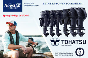 New TOHATSU Outboards - Its time to RE- POWER at NewStar Marine