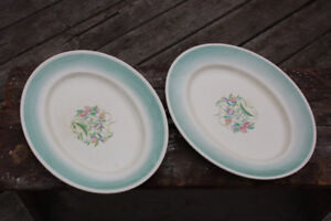 Pair of Vintage SUSIE COOPER Dresden Spray Platters