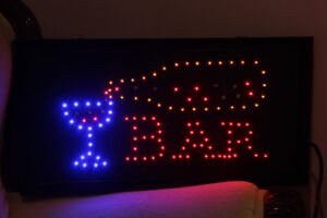 Bar Sign with  Animated Motion Multicolor LED Light