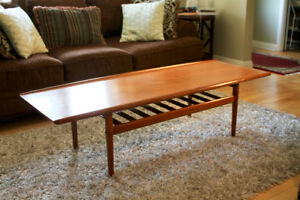 Mid Century Danish Teak Coffee Table by Grete Jalk
