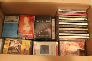 Box lot of misc CDs & Cassettes