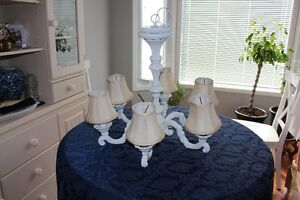 Ornate White Chandelier Price just reduced from $55 to $30.