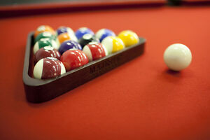Solid Wood Pool Table ◄ Leather Pocket Brand NEW Windsor Region Ontario image 9