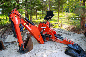 Hardy 8ST backhoe ready for 3 point hitch or sub frame