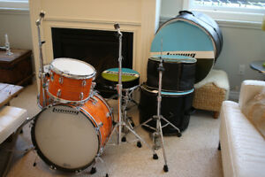 Ludwig Mod Orange Downbeat drums early '70s