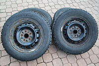 Four winter tires GOODYEAR NORDIC with rims.