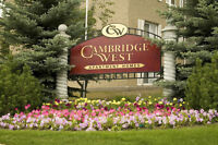 Cambridge West: Accepting Applications for 1 Bedroom Suites!