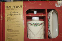 PHALTZGRAF POTTERY Kitchen Set & Soap Included