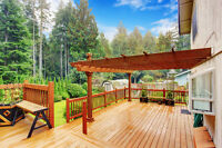 Deck, Patio, Pergola construction and design