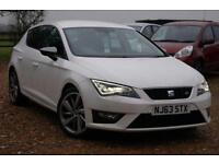 2013 63 SEAT LEON 2.0 TDI FR 5D 150 BHP, 1 OWNER, SAT NAV, NEW MOT, £20 ROAD TAX