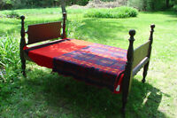 Antique Canadian Cannonball Bed, Painted, c.1850, Excellent