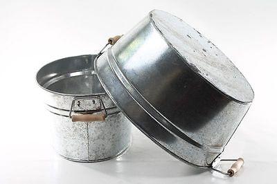 Occasion, belle Baignoire Aluminium Baignoire zinc Cache-pot Bac à plantes Repro Seau d'occasion  Expédié en Belgium