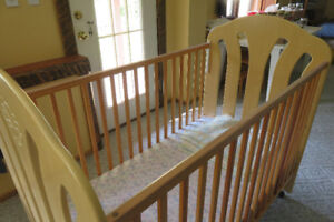 Solid maple crib in mint condition.