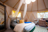 Thanksgiving retreat for 2 in a lakeside yurt Watch|Share |Print