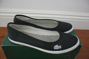 lacoste slip on  shoes size 5.5