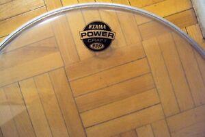 "Tama 16""  floor tom drum heads. Deux/two new/neuf."