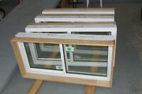 Four  New Sliding Basement Windows