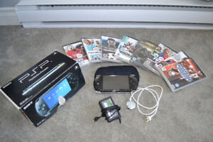 Sony PSP with Case plus 8 Games