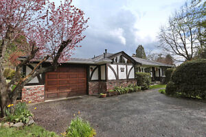 North Vancouver Home one-level, beautiful yard at a great price!