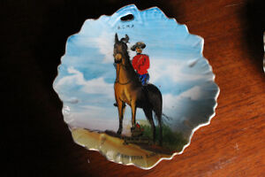 Hand-Painted Royal Canadian Mounted Police collector dishes