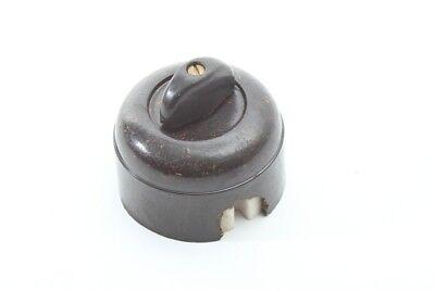 Old Turn Bakelite Surface-Mounted Light Switch Art Deco Loft Switch