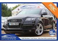 2012 62 AUDI Q7 3.0 TDI QUATTRO S LINE PLUS 5D AUTO 245 BHP DIESEL