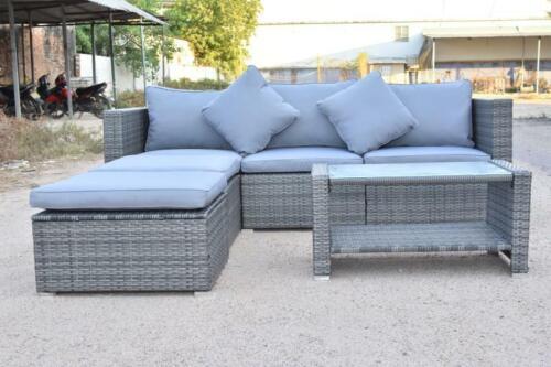Garden Furniture - 6 Pcs Patio Rattan Sofa Set Wicker Garden Furniture Outdoor Sectional Couch US