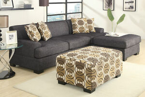 BRAND NEW!  Condo Sized Ash Black Small Sectional Sofa Set!