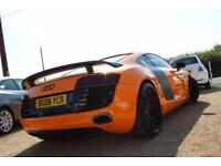 2008 08 AUDI R8 4.2 QUATTRO 2D AUTO 420 BHP ONE OFF EXAMPLE IN GT ORANGE