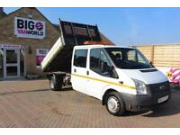 2012 FORD TRANSIT 350 TDCI 155 LWB 6 SEAT DOUBLE CAB 'ONE STOP' ALLOY TIPPER DRW