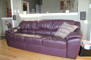 Leather Sofa, Loveseat and Ottoman
