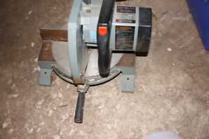"Used Delta 8 1/4""power miter saw is model 36-040."