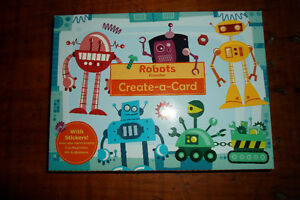 Mudpuppy Robots Create-a-card-Brand New