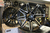 """LOOK!!! NEW SATIN BLK 17"""" SETS OF OFFSET ALLOYS-TRURO"""