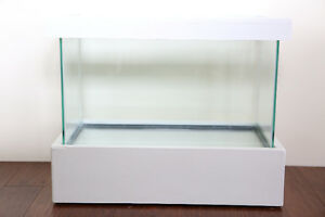 Fish Tank Aquarium Terrarium with Wooden and Cover