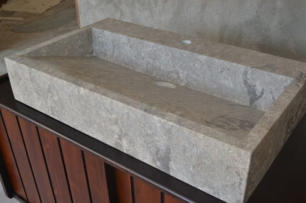WHOLESALE 30 PCES - 80CM L - RECTANGLE HONED STONE BASIN  - BS076 Capalaba Brisbane South East Preview
