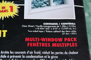 NEW in BOX Window insulator kit, 5-Windows. Save on heating! Kitchener / Waterloo Kitchener Area image 4