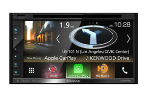 "Kenwood DNX575S 2‐DIN 6.2"" DVD/USB/BT Navigation, Apple Carplay"
