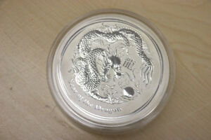 **WOW** 2012 Year of the Dragon, 1 KG Silver, 30$ Coin