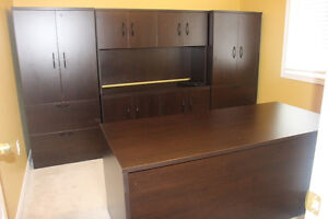Executive Office Desk and Bookcase Suite