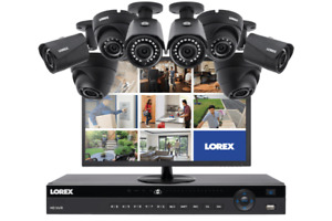 Lorex 2K Security System with 8 Color Night Vision IP Cameras