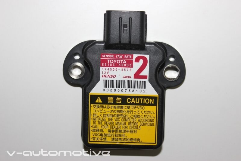 2012 LEXUS CT 200H / ESP YAW RATE SENSOR 89183-50030
