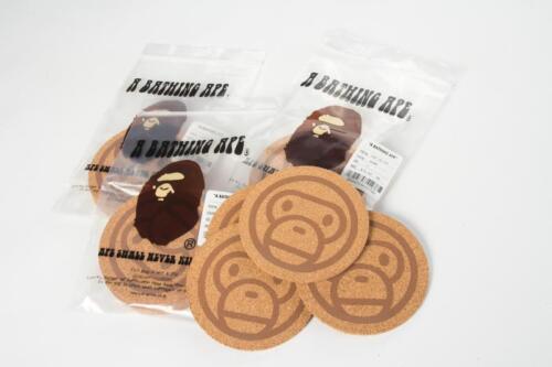 A Bathing Ape Bape Baby Milo 1 pack 4pcs Fiber Cork Coaster Clearance