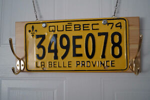 Clothes hanger with old QC car plate. Hand made! Gatineau Ottawa / Gatineau Area image 7