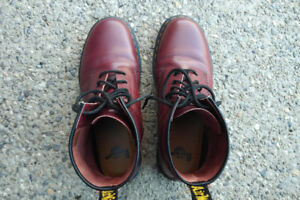 Mens Cherry Red Doc Marten Boots - Worn Once - LOOK NOW